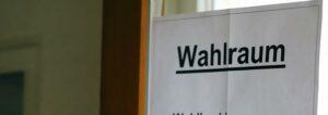 Wahlraum Oedelsheim Bürgermeisterwahl Wesertal 2020